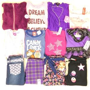 Girl Size 14/16 Fall Clothes Lot Tops Jeans Outfit
